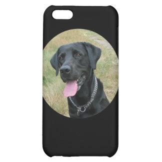 Caso del iphone 4 del negro del perro del labrador