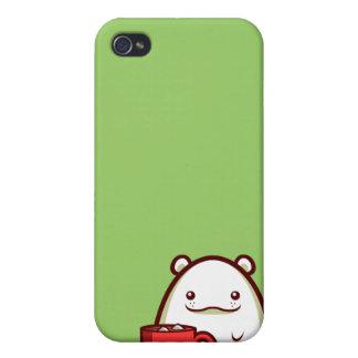 Caso del iPhone 4 del oso polar de los cachos iPhone 4 Fundas