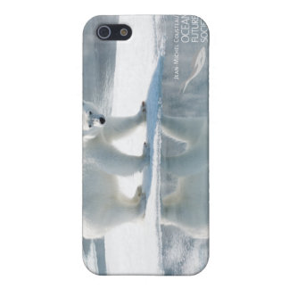 Caso del iPhone 4 del oso polar iPhone 5 Protector