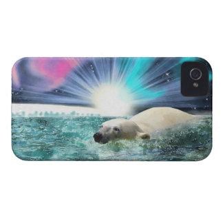 Caso del iPhone 4 del oso polar que nada y de la a