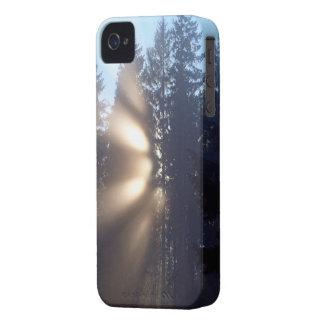 Caso del iPhone 4 del paisaje de la niebla y de la iPhone 4 Cobertura