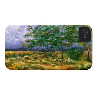 Caso del iPhone 4 del paisaje del verano iPhone 4 Case-Mate Fundas