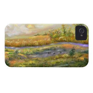 Caso del iPhone 4 del paisaje del verano tardío Case-Mate iPhone 4 Cárcasa