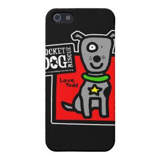 Caso del iPhone 4 del Parr de RDR Todd (perro gris iPhone 5 Funda