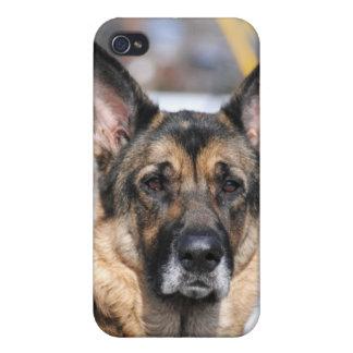 Caso del iPhone 4 del pastor alemán iPhone 4 Carcasas