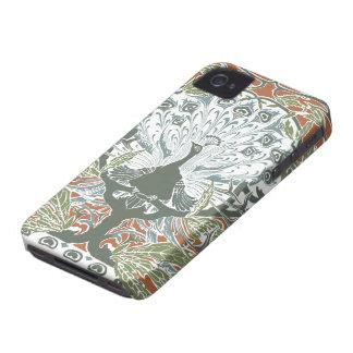 Caso del iPhone 4 del pavo real del vintage iPhone 4 Protector