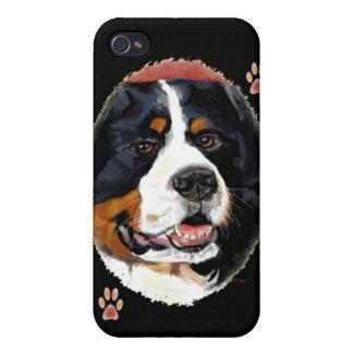 Caso del iPhone 4 del perro de montaña de Bernese iPhone 4 Funda