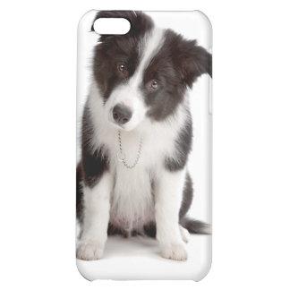Caso del iPhone 4 del perro de perrito del border