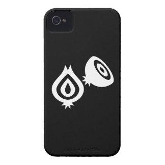 Caso del iPhone 4 del pictograma de la cebolla iPhone 4 Case-Mate Funda