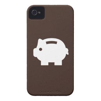 Caso del iPhone 4 del pictograma de la hucha iPhone 4 Protectores