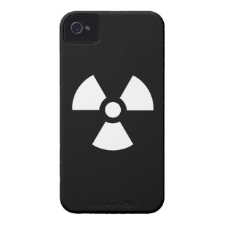 Caso del iPhone 4 del pictograma de la radiación iPhone 4 Case-Mate Cobertura