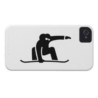 Caso del iPhone 4 del pictograma de la snowboard iPhone 4 Protector