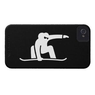 Caso del iPhone 4 del pictograma de la snowboard Case-Mate iPhone 4 Protectores
