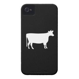 Caso del iPhone 4 del pictograma de la vaca Case-Mate iPhone 4 Protector