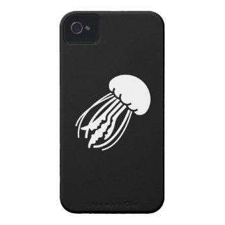 Caso del iPhone 4 del pictograma de las medusas iPhone 4 Case-Mate Cárcasa