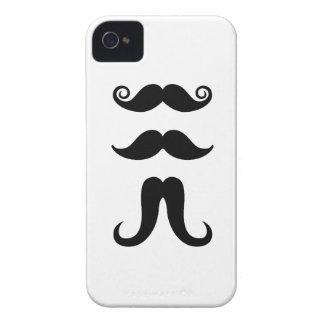 Caso del iPhone 4 del pictograma de los bigotes iPhone 4 Case-Mate Protectores