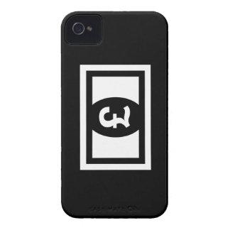 Caso del iPhone 4 del pictograma de los billetes iPhone 4 Case-Mate Funda