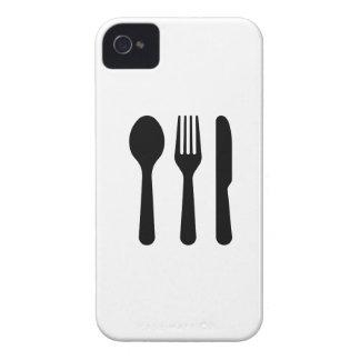 Caso del iPhone 4 del pictograma de los cubiertos iPhone 4 Funda
