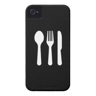 Caso del iPhone 4 del pictograma de los cubiertos iPhone 4 Protectores