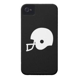 Caso del iPhone 4 del pictograma del casco de fútb iPhone 4 Funda