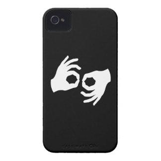 Caso del iPhone 4 del pictograma del lenguaje de iPhone 4 Case-Mate Fundas