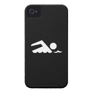 Caso del iPhone 4 del pictograma del nadador Carcasa Para iPhone 4
