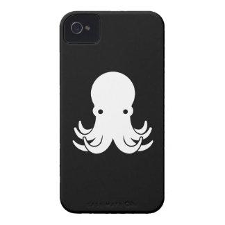 Caso del iPhone 4 del pictograma del pulpo iPhone 4 Protectores