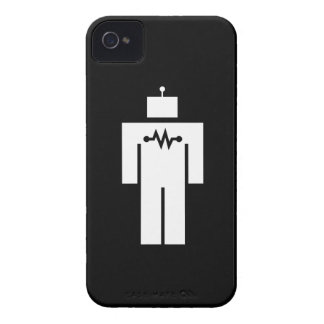 Caso del iPhone 4 del pictograma del robot iPhone 4 Case-Mate Fundas