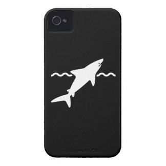Caso del iPhone 4 del pictograma del tiburón iPhone 4 Case-Mate Cárcasas
