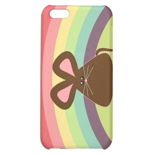 Caso del iPhone 4 del ratón de Kawaii