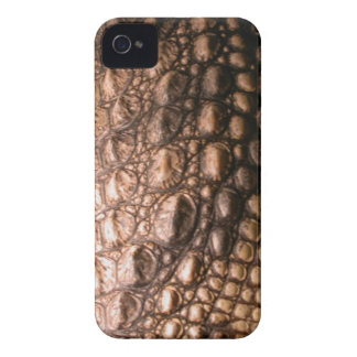 Caso del iPhone 4 del reptil de la piel del cocodr iPhone 4 Carcasas