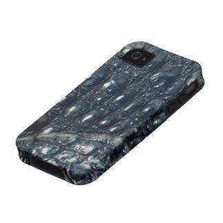 Caso del iPhone 4 del reptil de la piel del Vibe iPhone 4 Carcasas