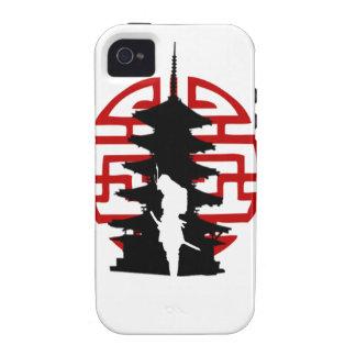 Caso del iPhone 4 del samurai Vibe iPhone 4 Carcasas