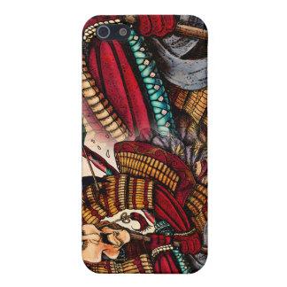 Caso del iPhone 4 del samurai iPhone 5 Coberturas