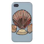 Caso del iPhone 4 del Seashell iPhone 4/4S Fundas
