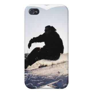Caso del iPhone 4 del Snowboarder iPhone 4 Fundas