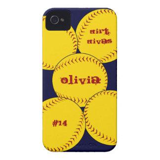 Caso del iPhone 4 del softball de Fastpitch Case-Mate iPhone 4 Cárcasas