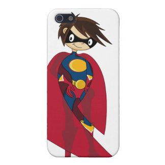 Caso del iphone 4 del super héroe de Caped iPhone 5 Protectores