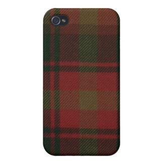 Caso del iPhone 4 del tartán de la hoja de arce iPhone 4/4S Carcasas