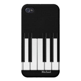 Caso del iPhone 4 del teclado de piano iPhone 4 Fundas