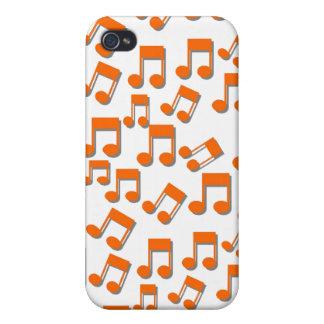 Caso del iphone 4 del tema de la música iPhone 4 carcasas