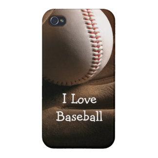 Caso del iPhone 4 del tema del béisbol iPhone 4 Coberturas