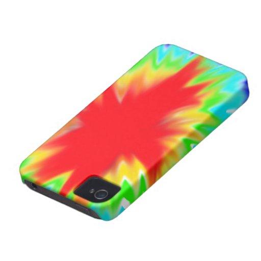 caso del iphone 4 del teñido anudado funda para iPhone 4 de Case-Mate