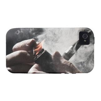 Caso del iPhone 4 del tubo que fuma Case-Mate iPhone 4 Fundas