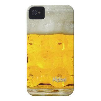 Caso del iPhone 4 del vidrio de cerveza iPhone 4 Case-Mate Fundas
