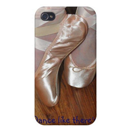 Caso del iPhone 4 del zapato de Pointe iPhone 4 Carcasas