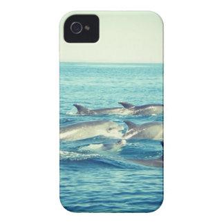 caso del iPhone 4 - delfínes en el mar Case-Mate iPhone 4 Protectores