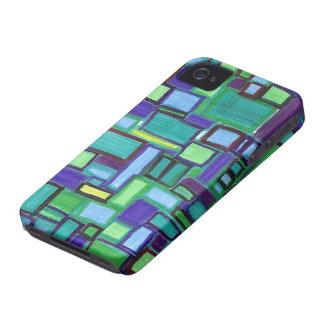 caso del iphone 4, diseño modernista brillante iPhone 4 Case-Mate cobertura