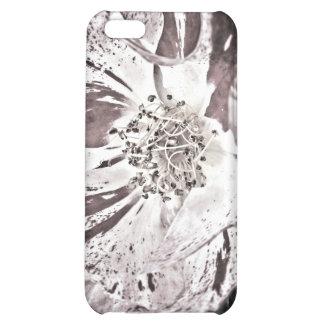 caso del iPhone 4 - flores rojas pálidas
