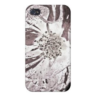 caso del iPhone 4 - flores rojas pálidas iPhone 4/4S Carcasa